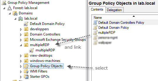 Concurrent RDP sessions enforcement through GPO