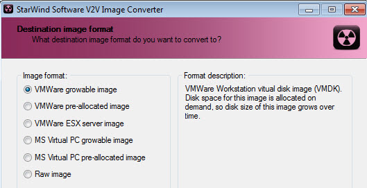 Starwind V2V Converter - VHD to VMDK