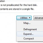 Expand Virtual disk of Windows 7 VW with VMware Workstation 7