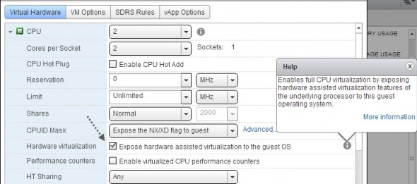 hardware virtualization 590x261 How to check if your host is capable to run nested ESXi