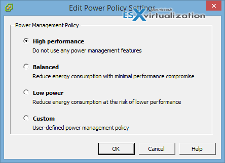 High Performance Power Policy to get the Best possible Performance