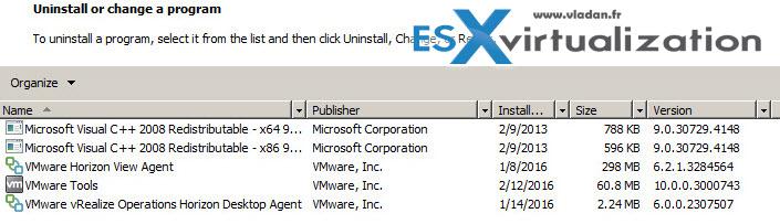 VMware Horizon View - Correct Order of component Installation