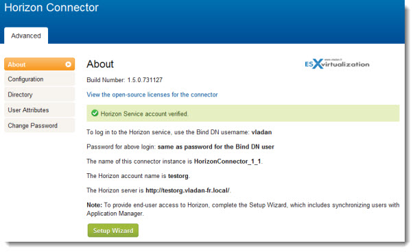 VMware Horizon Application Manager - connection OK