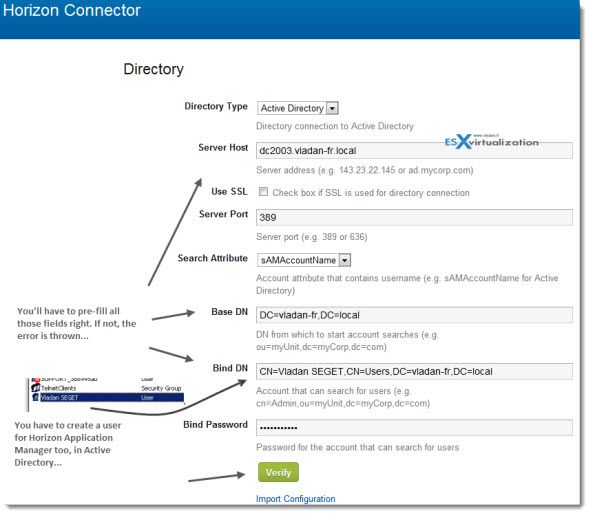 VMware Horizon Application Manager - configuring