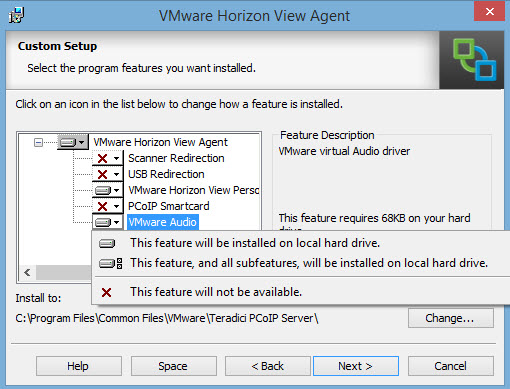 Horizon View Agent sub-components