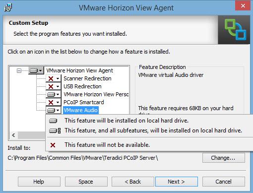 Horizon View Agent sub-components