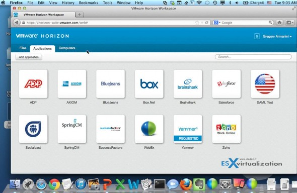 VMware Horizon Workspace - users applications