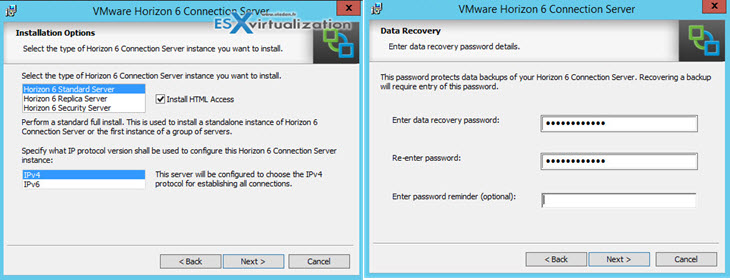 VCP6-DTM Installation Horizon View connection server