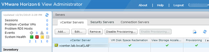 VCP6-DTM Objective 1.5 – Prepare Environment for Horizon (with View)