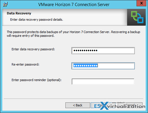 VMware Horizon 7 - Installation of Connection server