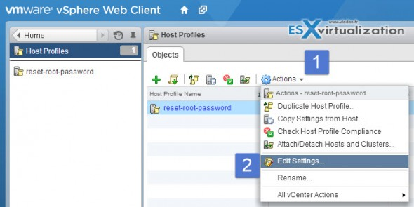 host profiles web6 590x295 How to reset ESXi 5.x root password and under which conditions