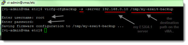 How-to backup ESXi4.1 configuration