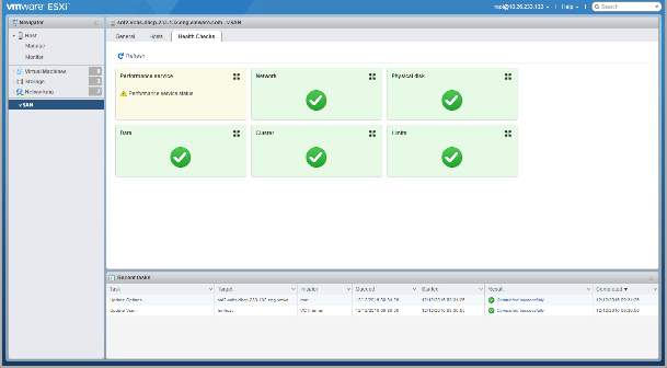 VMware VSAN 6.6 managed via HTML5 host client