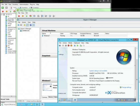 Hyper-V on ESXi 5.1 - Running Hyper-V as a VM on ESXi 5.1