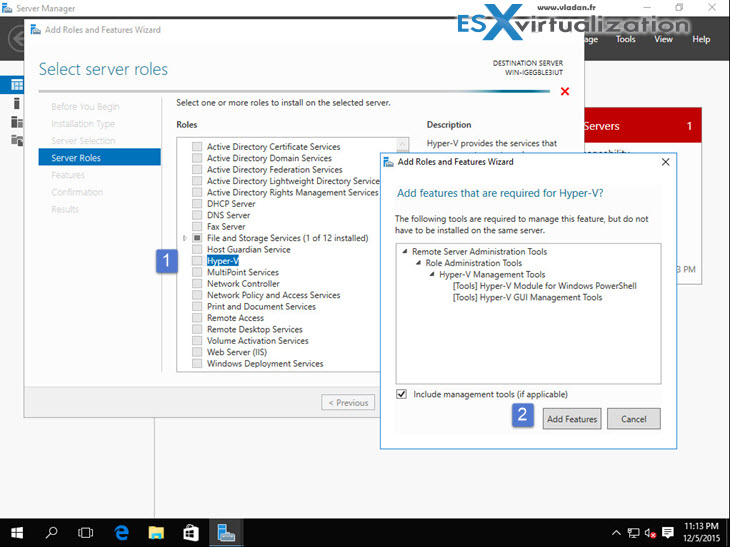 How to install Hyper-V 2016 on VMware ESXi