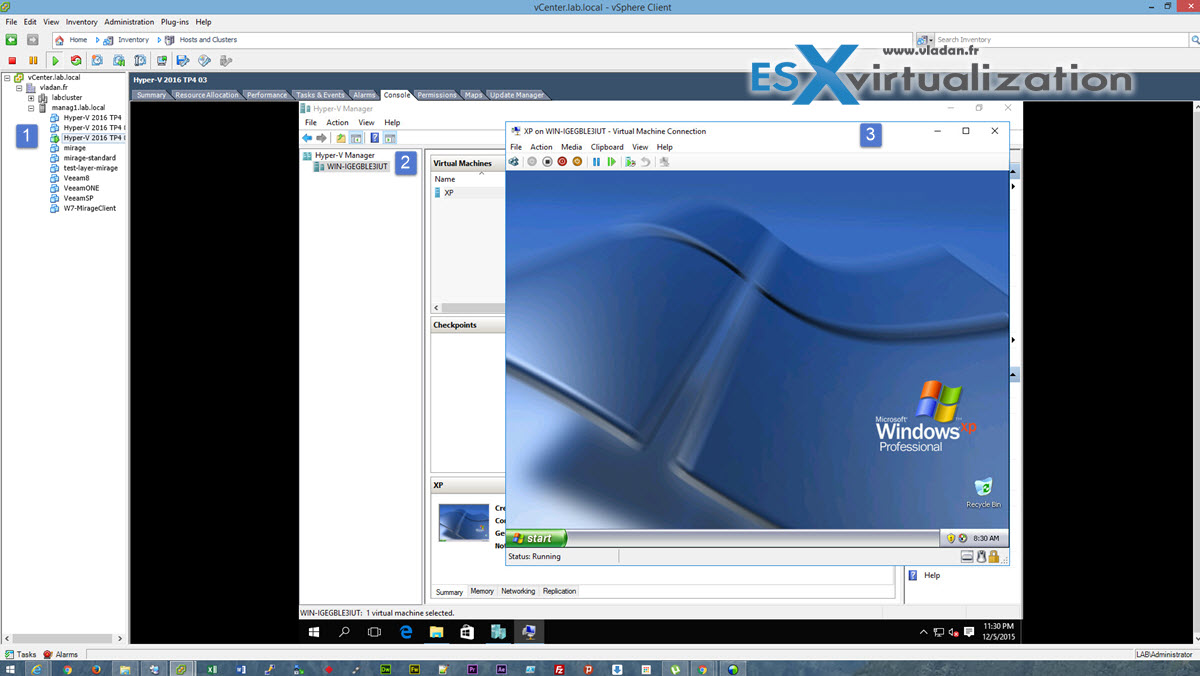 Windows Server 2016 Hyper-V on VMware | ESX Virtualization