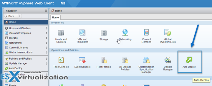VMware vSphere 6.5 Image Builder and AutoDeploy