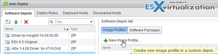VMware vSphere 6.5 ImageBuilder GUI and AutoDeploy