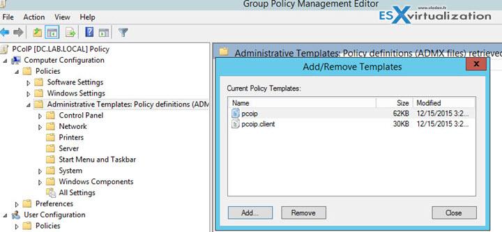 Import ADM files VMware Horizon View