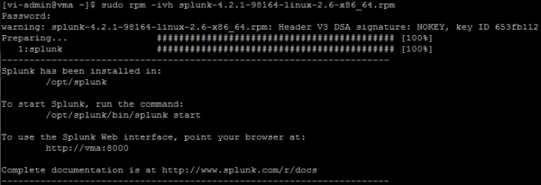 How to install and configure Splunk as a destination for ESXi log files