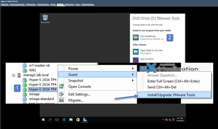 Windows Server 2016 Hyper-V on VMware | ESX Virtualization