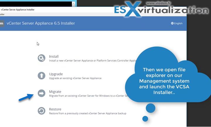 vCenter Server Migration Assistant - execute it on your Windows based vCenter