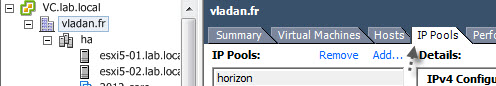 IP pools at the datacenter level - VMware vSphere