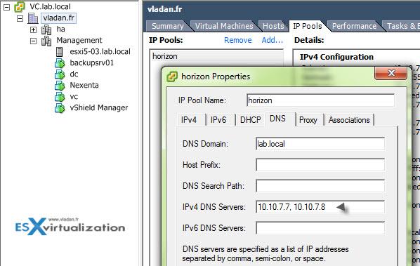 VMware vSphere IP pools