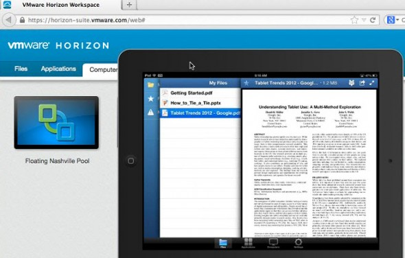 VMware Horizon Workspace - ipad