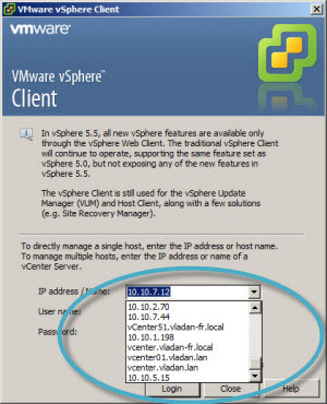 How to Remove Cached IP addresses and hostnames in vSphere client