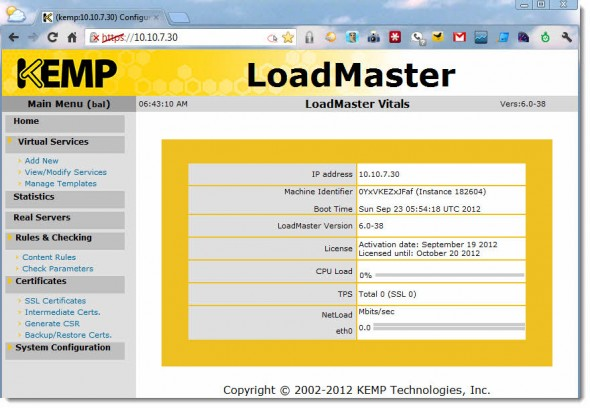 LoadMaster VLM from Kemp Technologies
