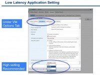 VM advanced settings for low latency applications