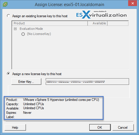 How-to apply free VMware license to ESXi hypervisor