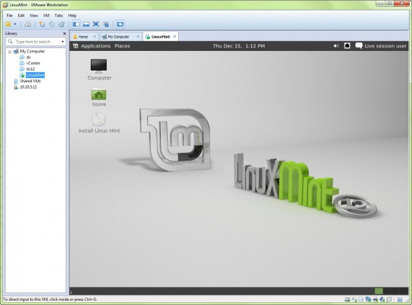 linux mint 0 590x437 Install Linux Mint in VMware Workstation   easy way to test other OSs on your desktop