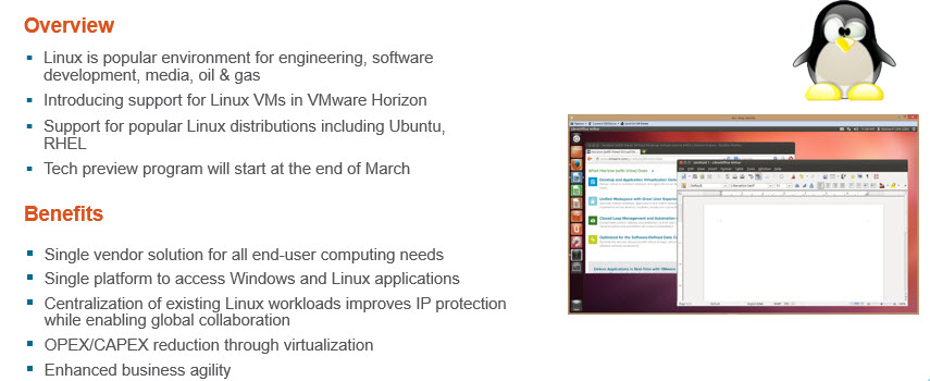 VMware Horizon View 6.1 - Linux Support