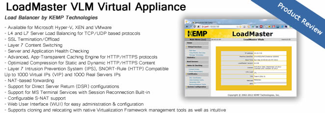 LoadMaster VLM virtual appliance by Kemp Technologies