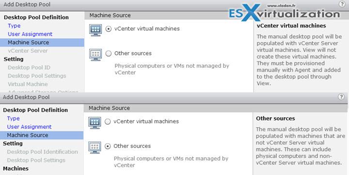 Desktop Sources - VCP6-DTM Objective 3.3 - Configure Manual Pools