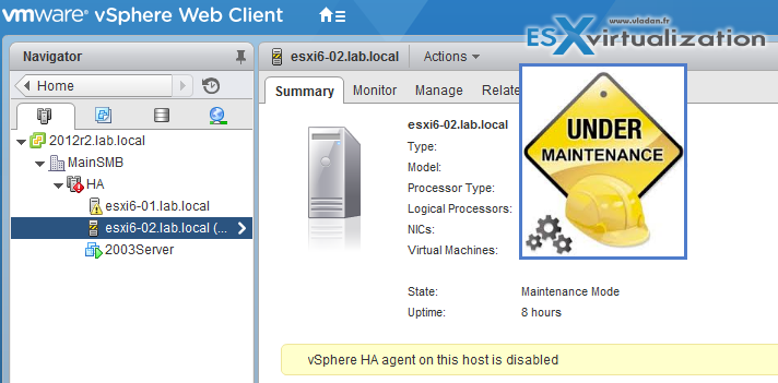 VMware ESXi Command List - Maintenance