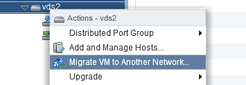 Migrate VMs to vDS