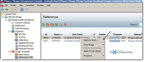 VMware Mirage Capture Layer