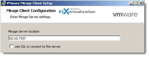 VMware Mirage - Installation of Mirage Client