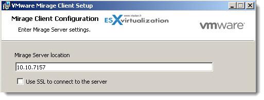 VMware Mirage - Installation of Mirage Client