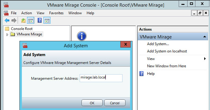 VMware Mirage Lab