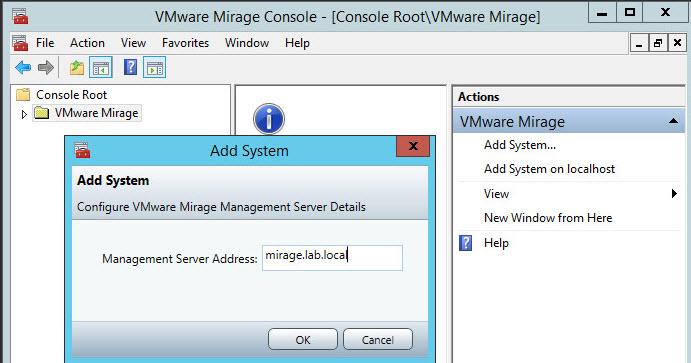 VMware Mirage Lab