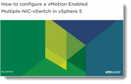 VMware vSphere 5 How to configure multiple nics for vmotion
