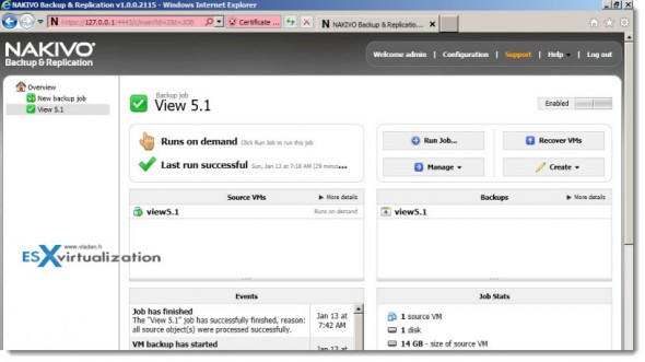 Nakivo Backup and Replication 1.0 - new backup product for VMware vSphere, ESX(i) 4.1, 5.0 and 5.1