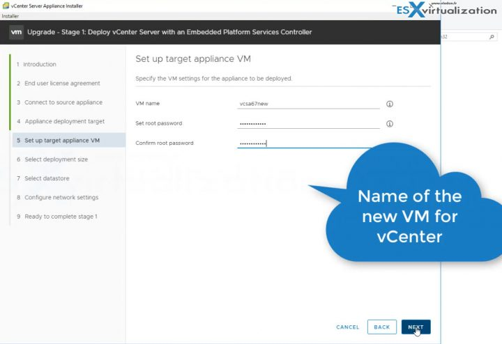 Upgrading a vCenter Server Appliance (VCSA) to version 6.7