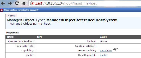ESXi host capability