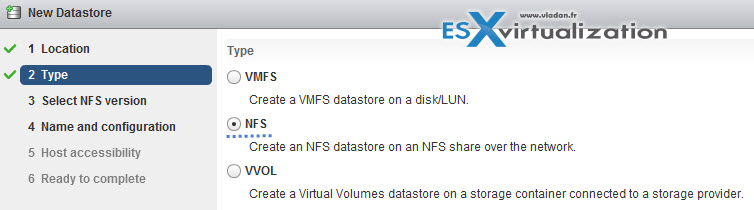 VCP6.5-DCV Add NFS Datastore