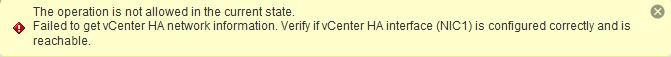 vCenter 6.5 (VCSA) HA advanced configuration how-to